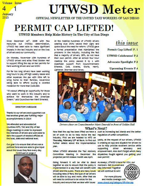 UTWSD January Newsletter