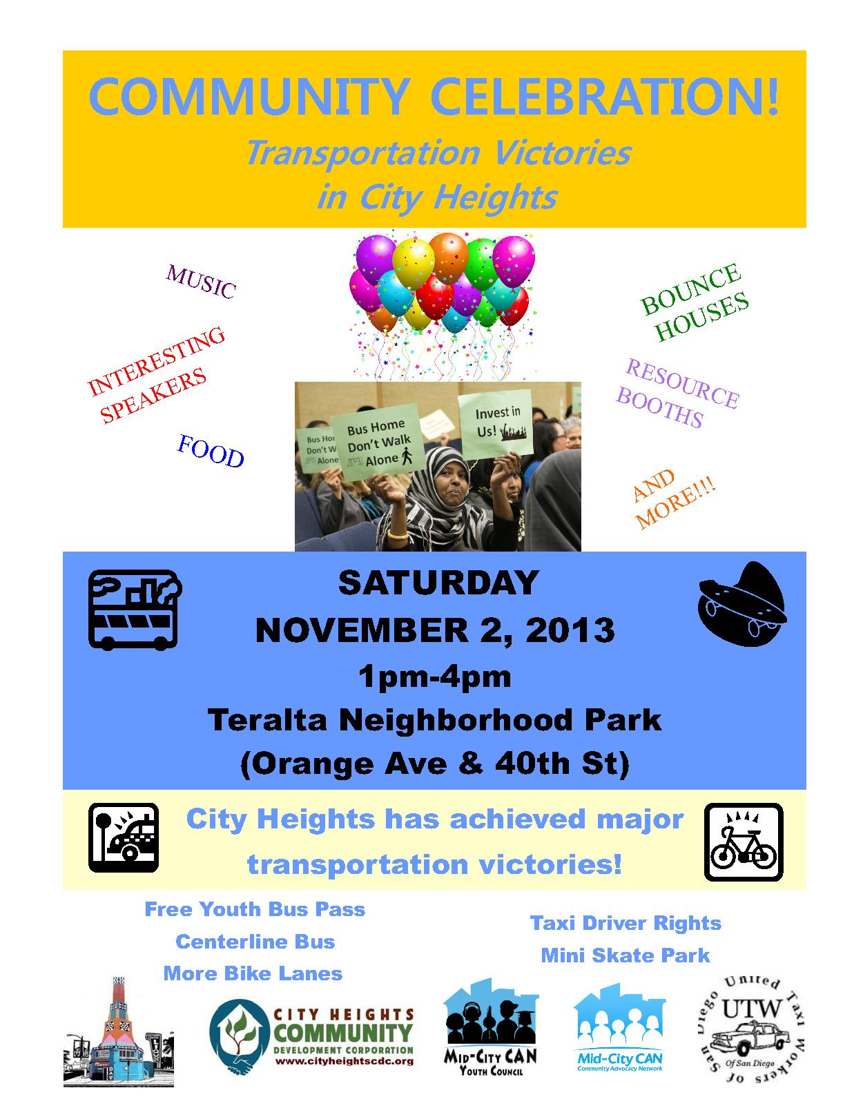 Community Celebration Flyer