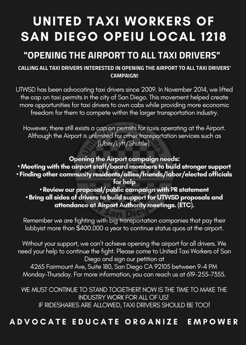 """Opening the Airport to all Taxi Drivers"""