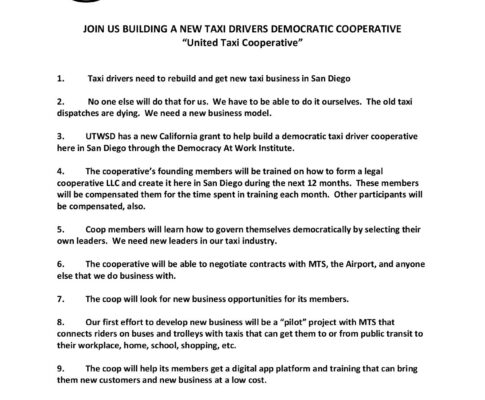 """Join us in building """"United Taxi Cooperative"""""""