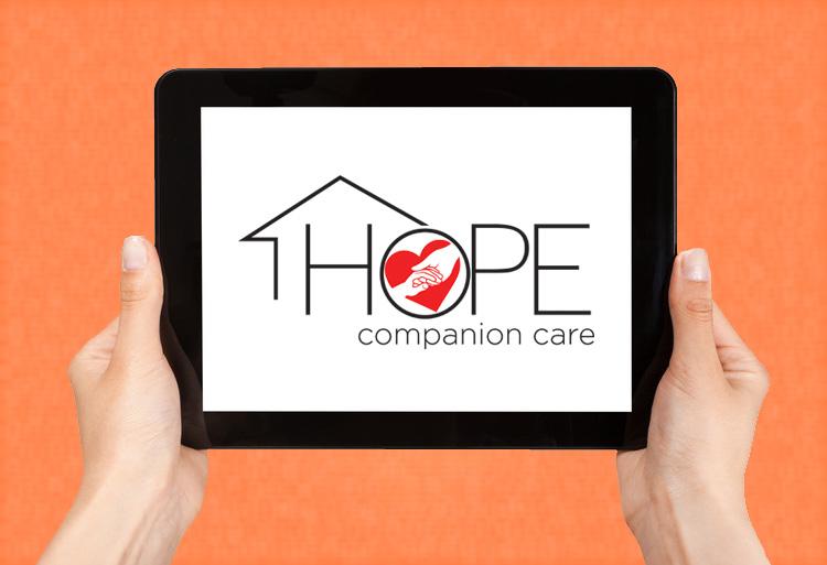 Hope Companion Care original logo design