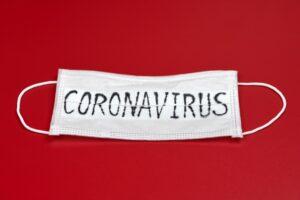 Medical Mask with the word coronavirus