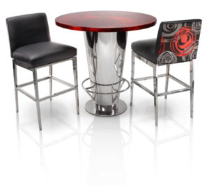 Metal Restaurant And Bar Table