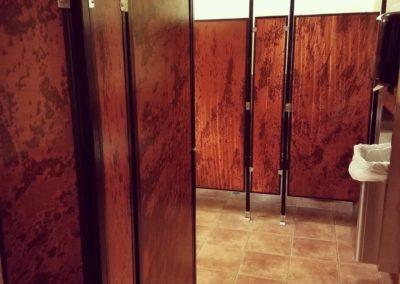Lavatory door panels in Straight, Nova, Armor.