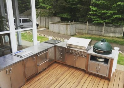 Outdoor countertop, straight grind, stainless steel, armor