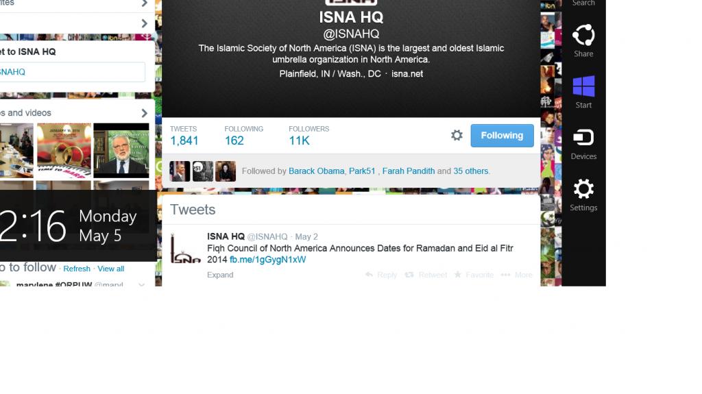 Obama follows ISNA