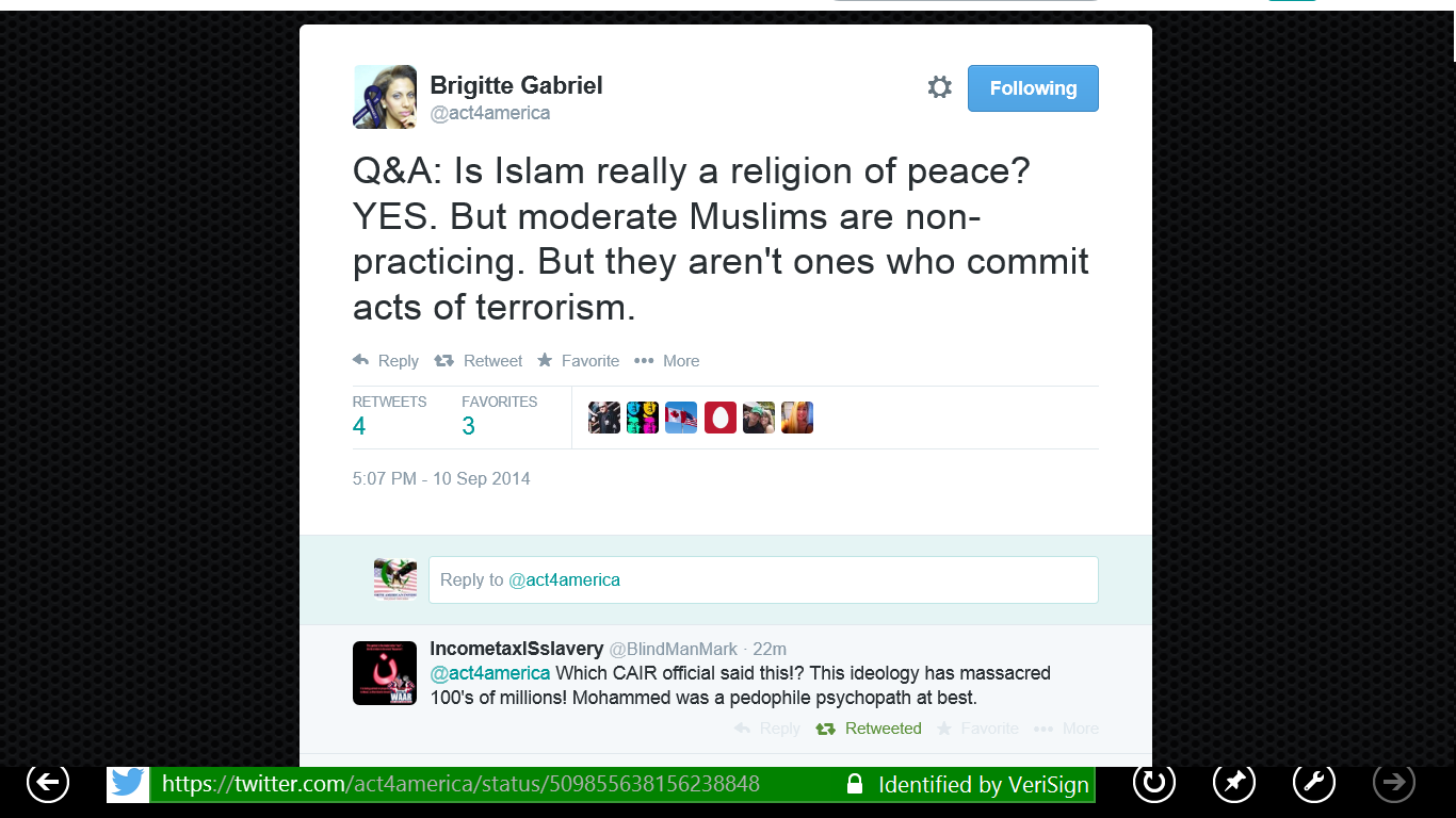 B Gabriel Islam is a relgion of peace 5 but first