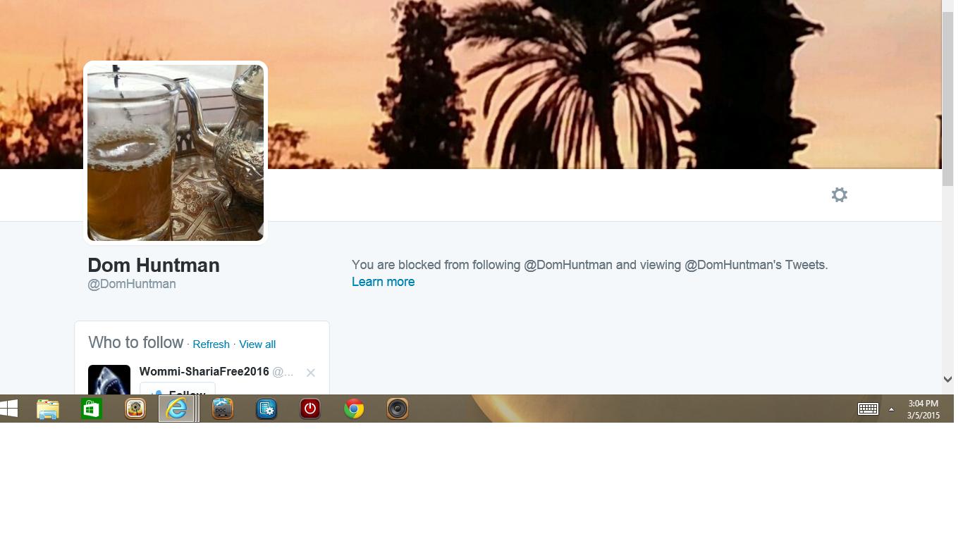 Blocked by 2 Dom Huntman