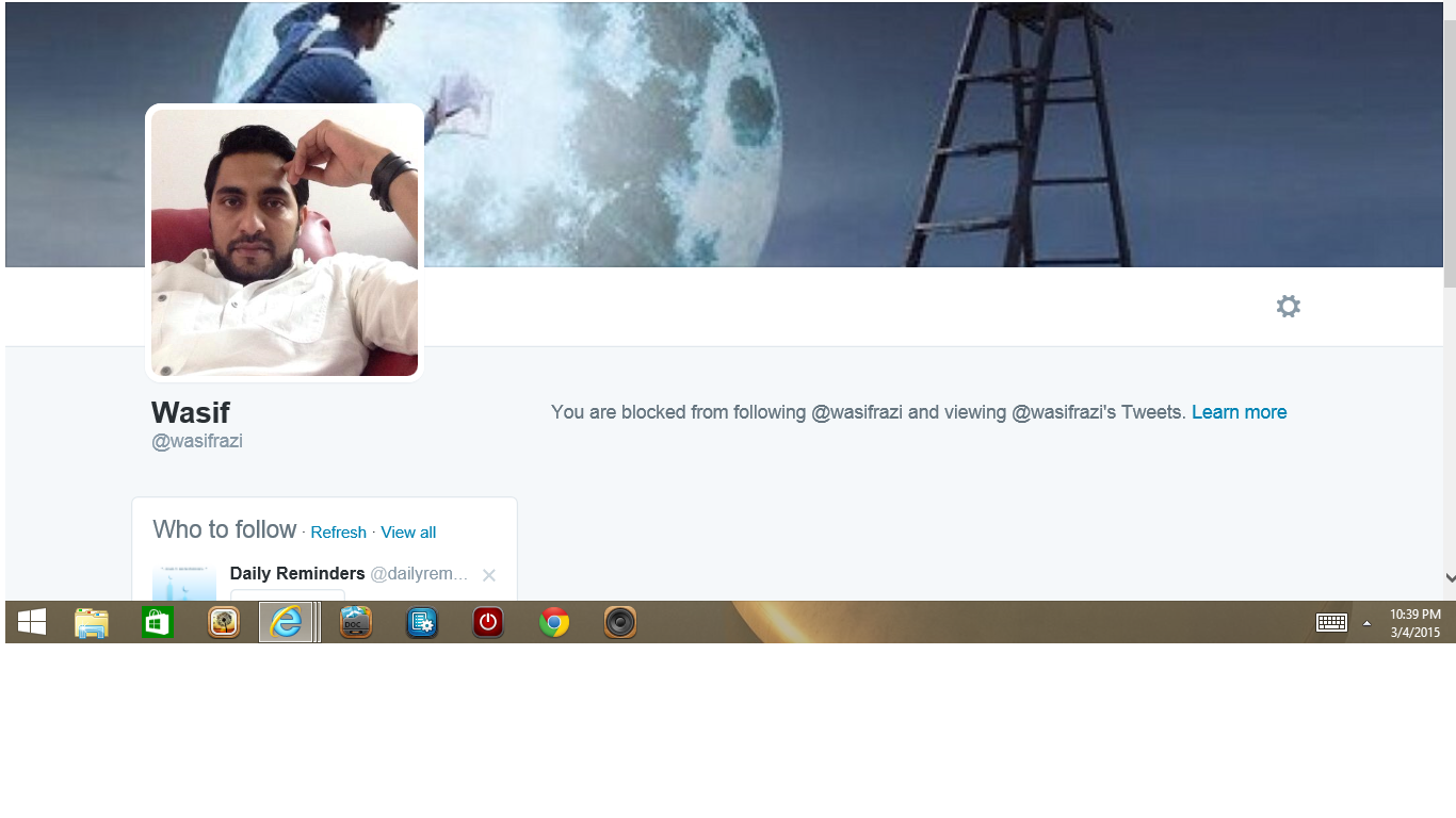 Blocked by 2 Wasif