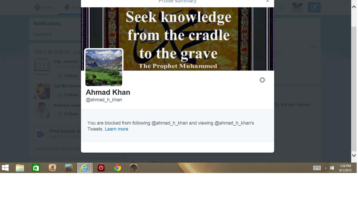 Blocked by 3 Ahmad Khan