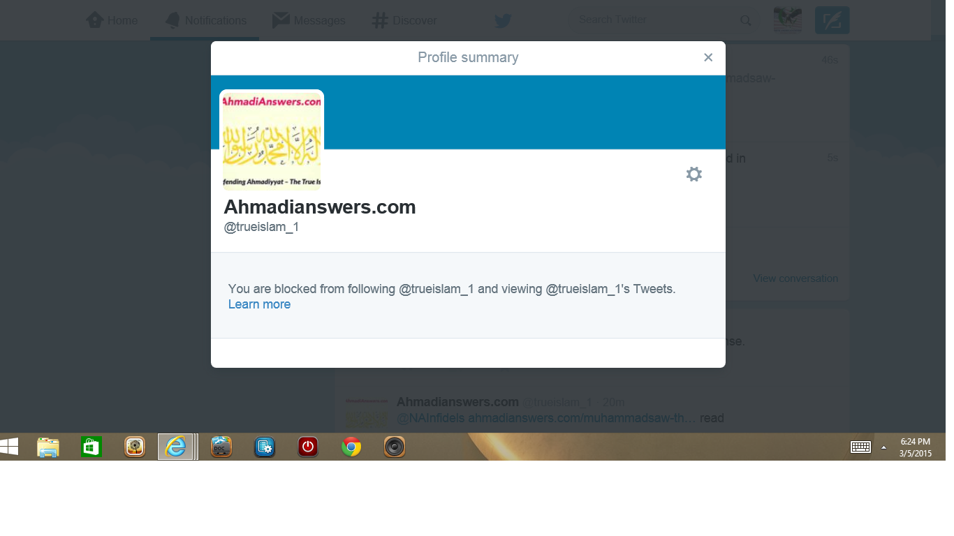 Blocked by 3 Ahmadian answers