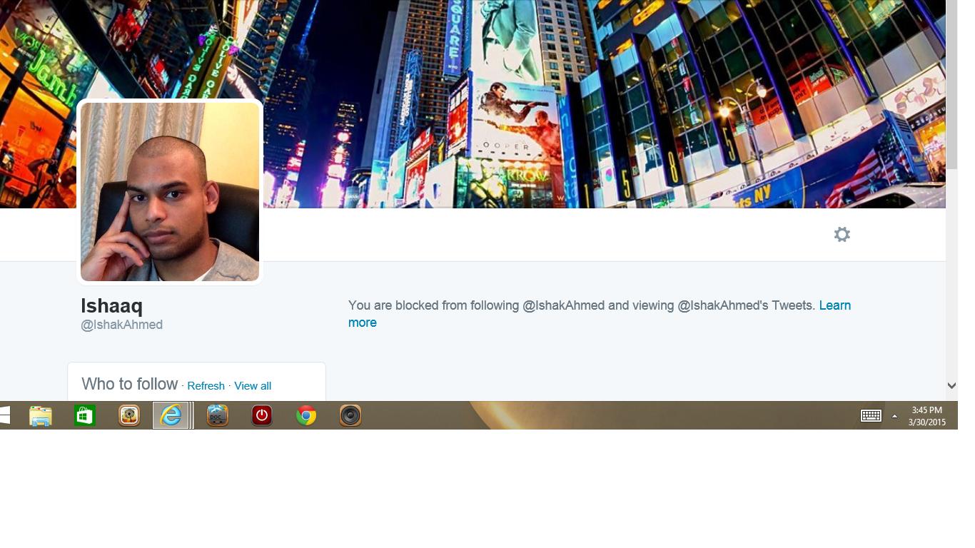 Blocked by 3 Ishaaq London 47K followers