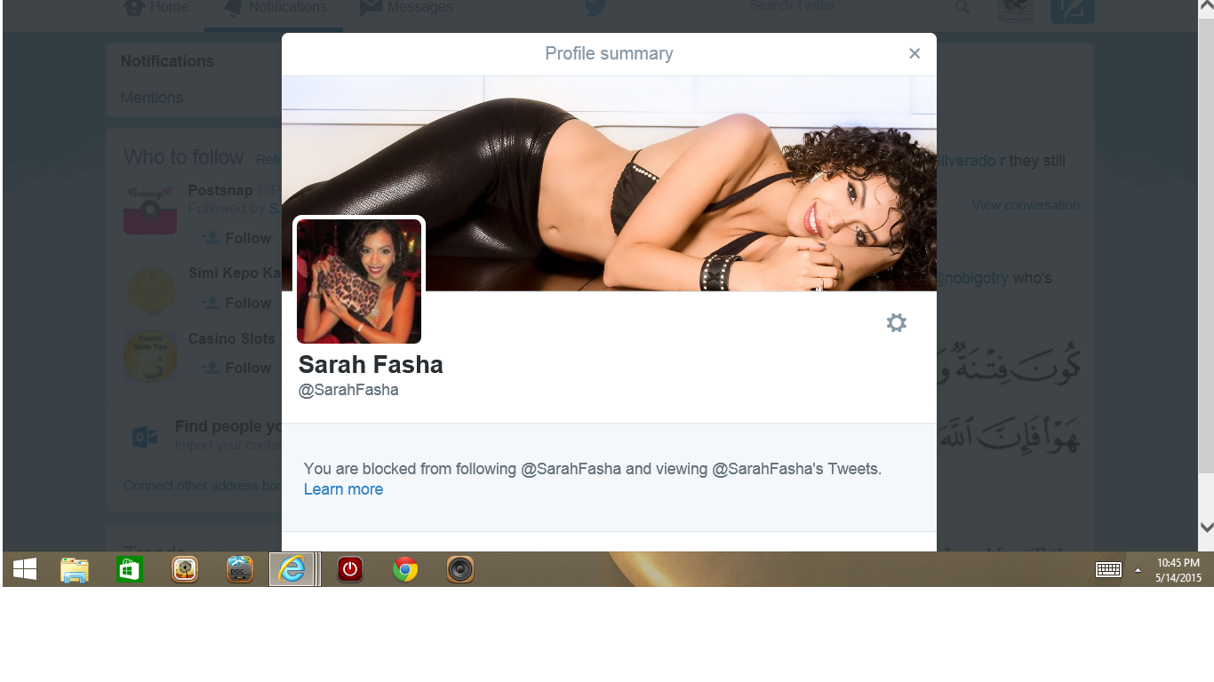 Blocked by 3 Miss Egypt Sarah Fasha