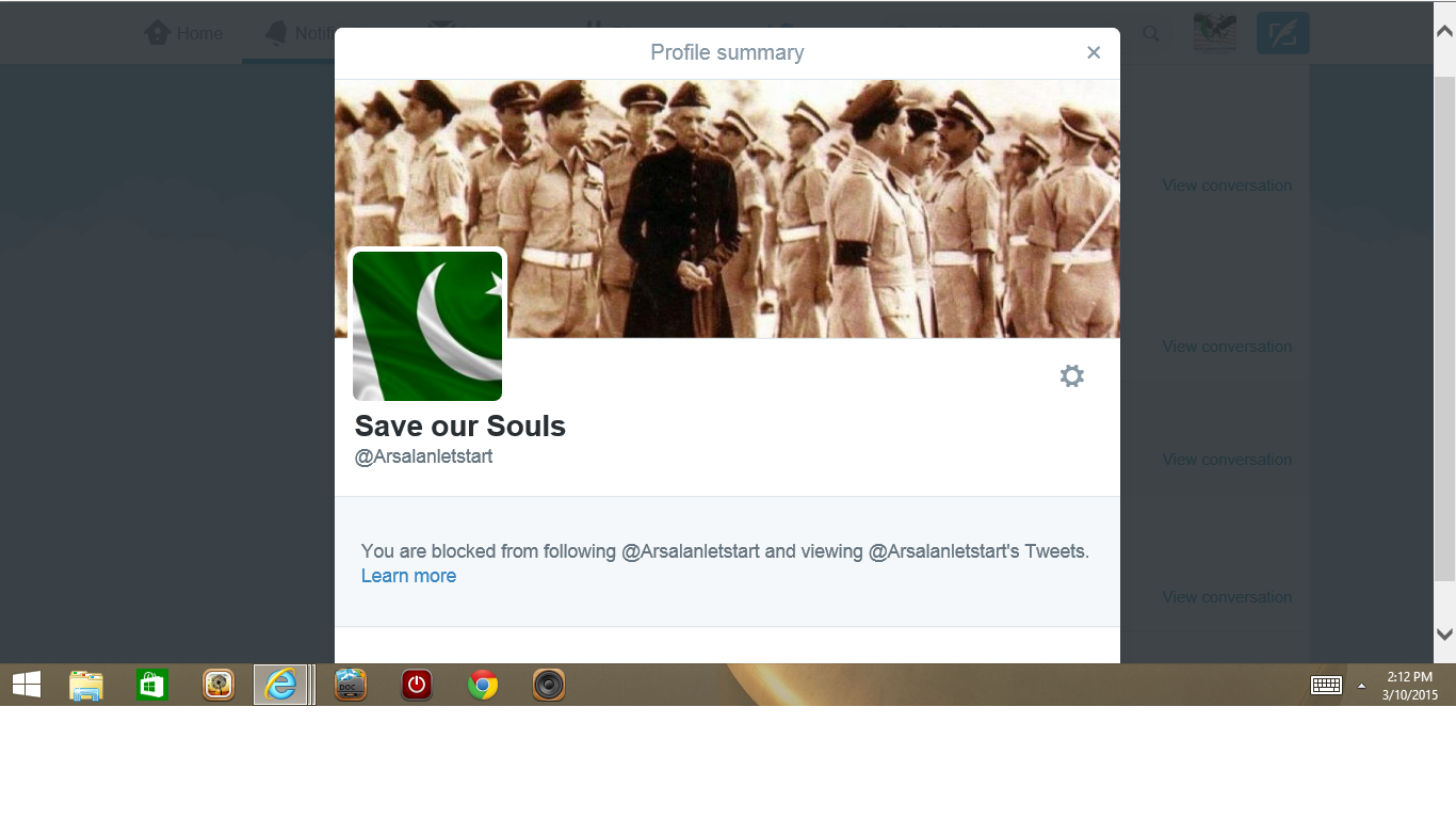 Blocked by 3 Save Our Souls