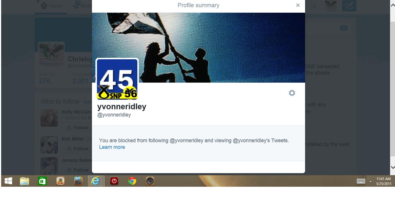 Blocked by 3 UK Yvonne Ridley