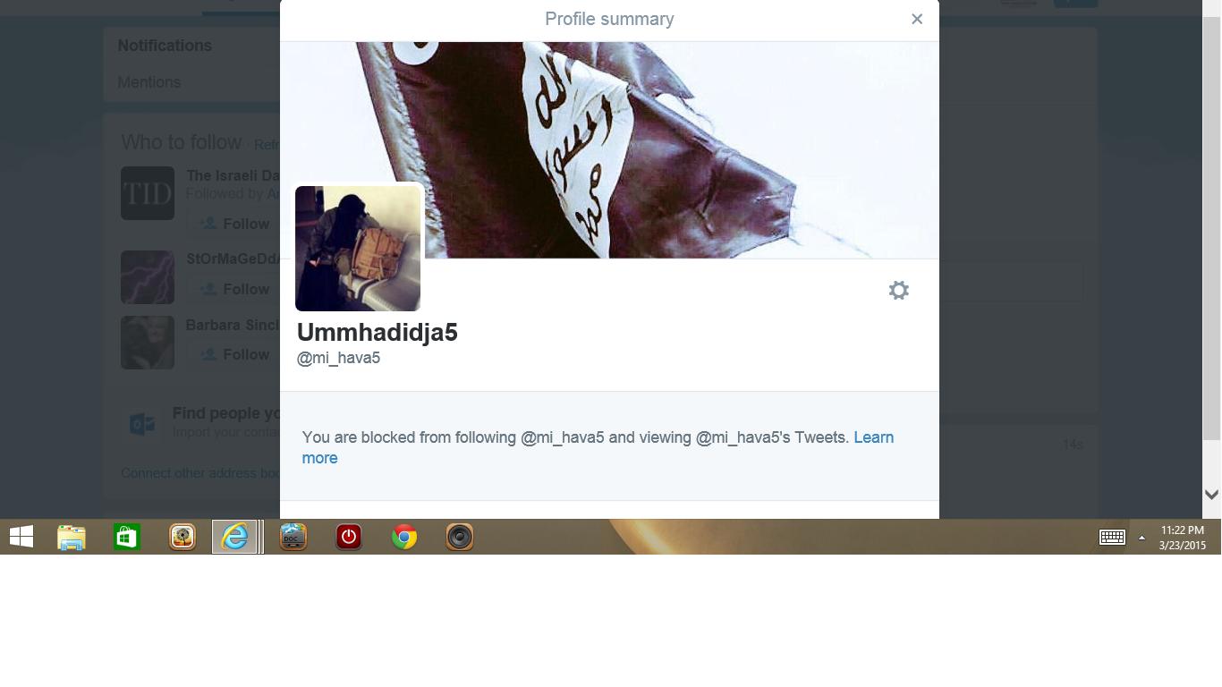 Blocked by 3 Ummm