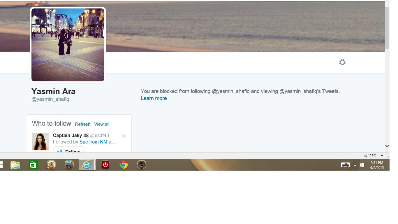Blocked by 3 Yasmin Ara