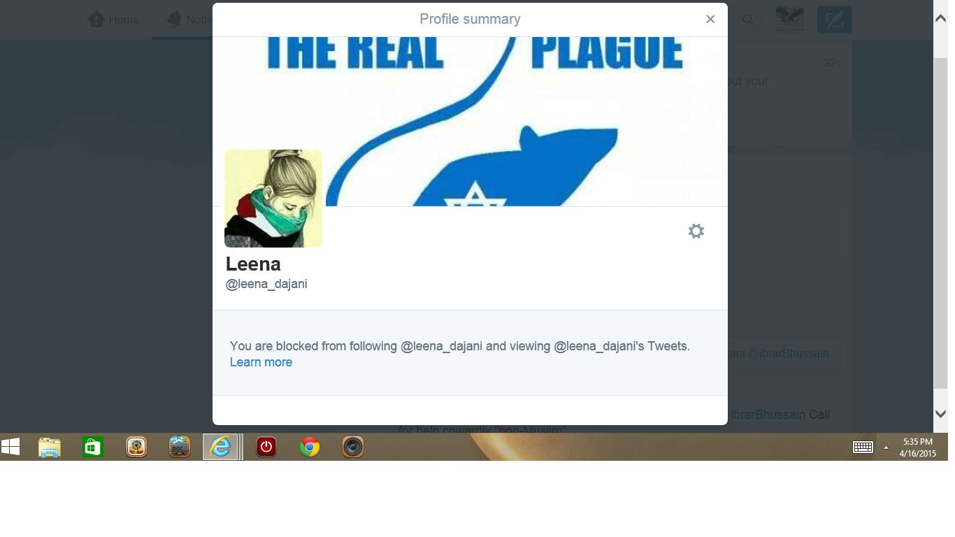 Blocked by 3 leena dajani