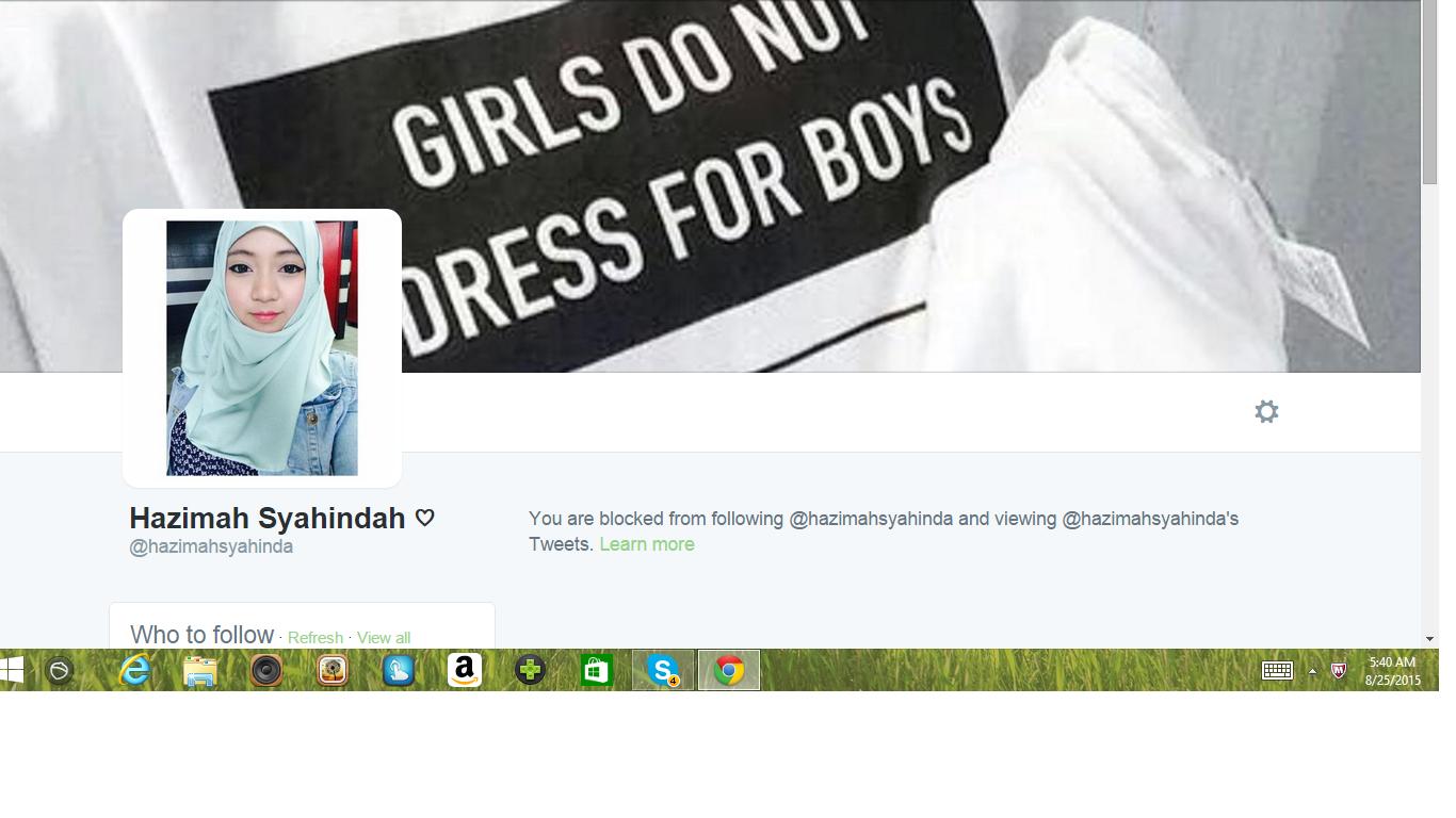 Blocked by 5 Hazimah Syahindah