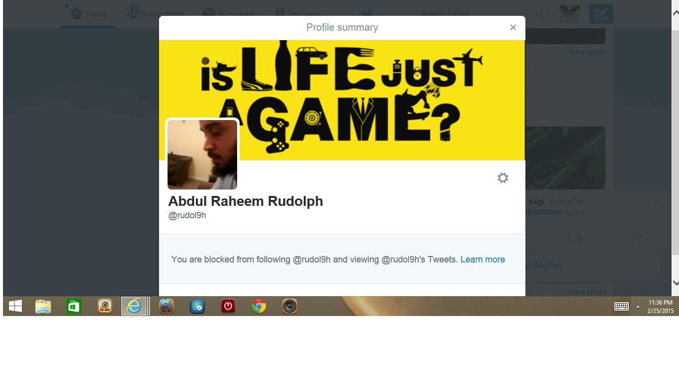 Blocked by Abdul
