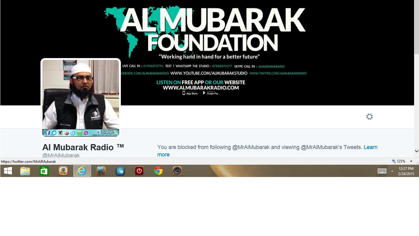 Blocked by Al Mubarak Radio