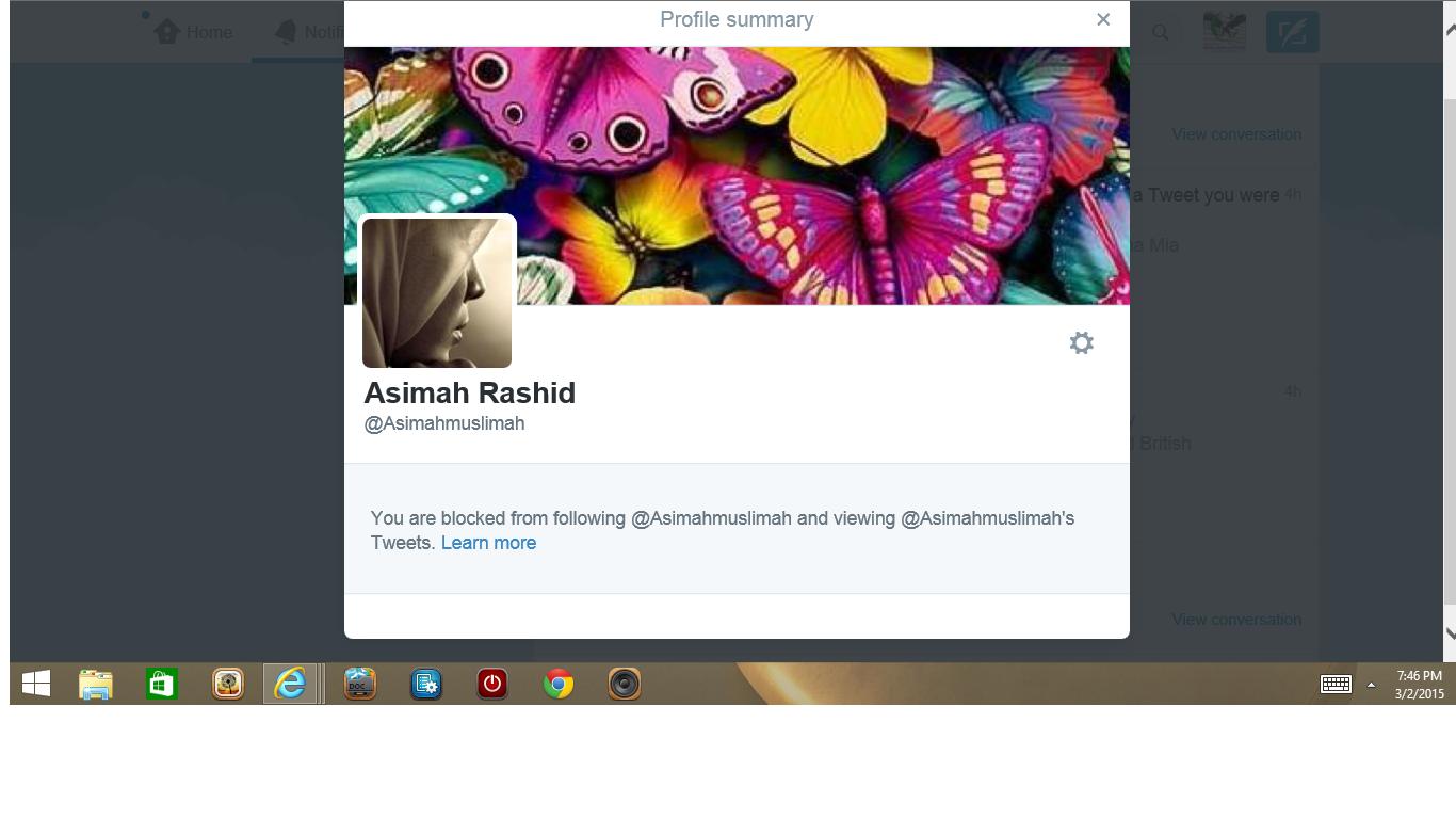 Blocked by Asimah Rashid