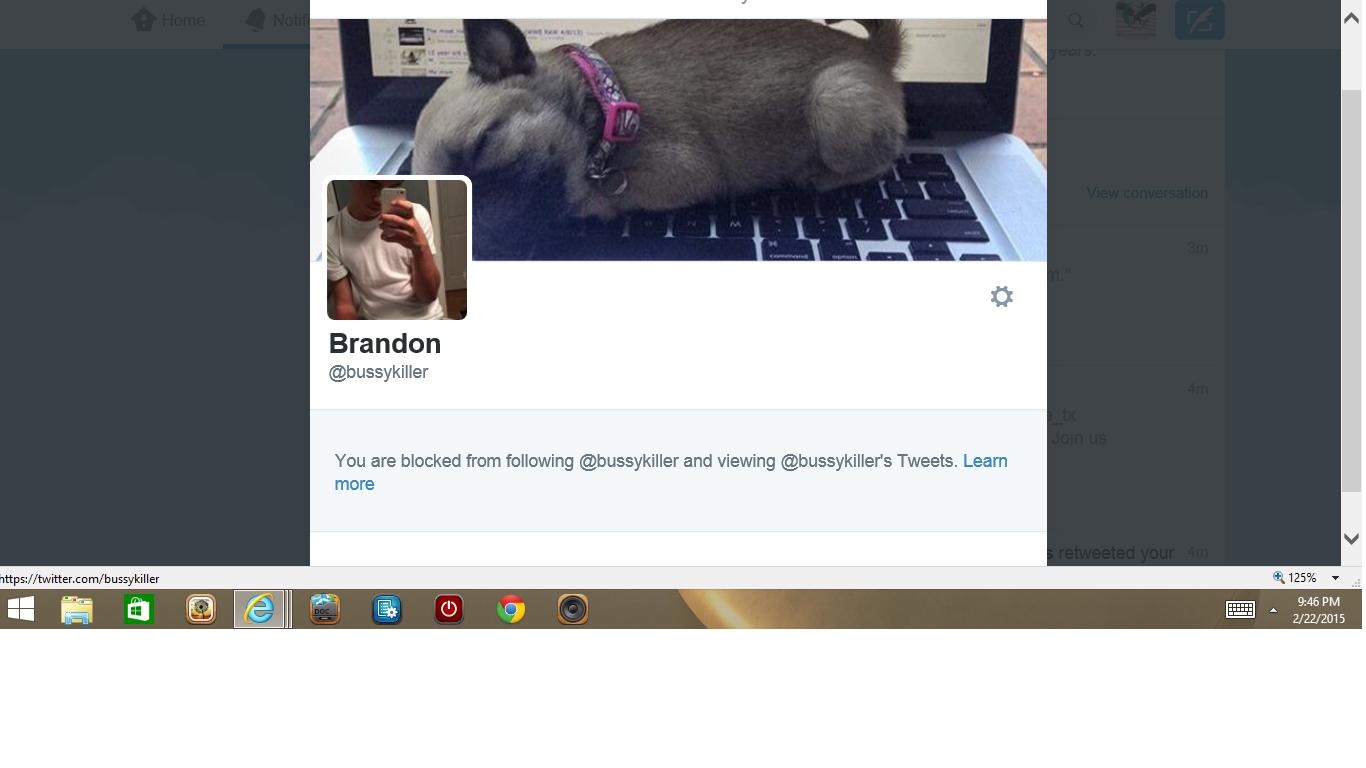 Blocked by Muslim Brandon