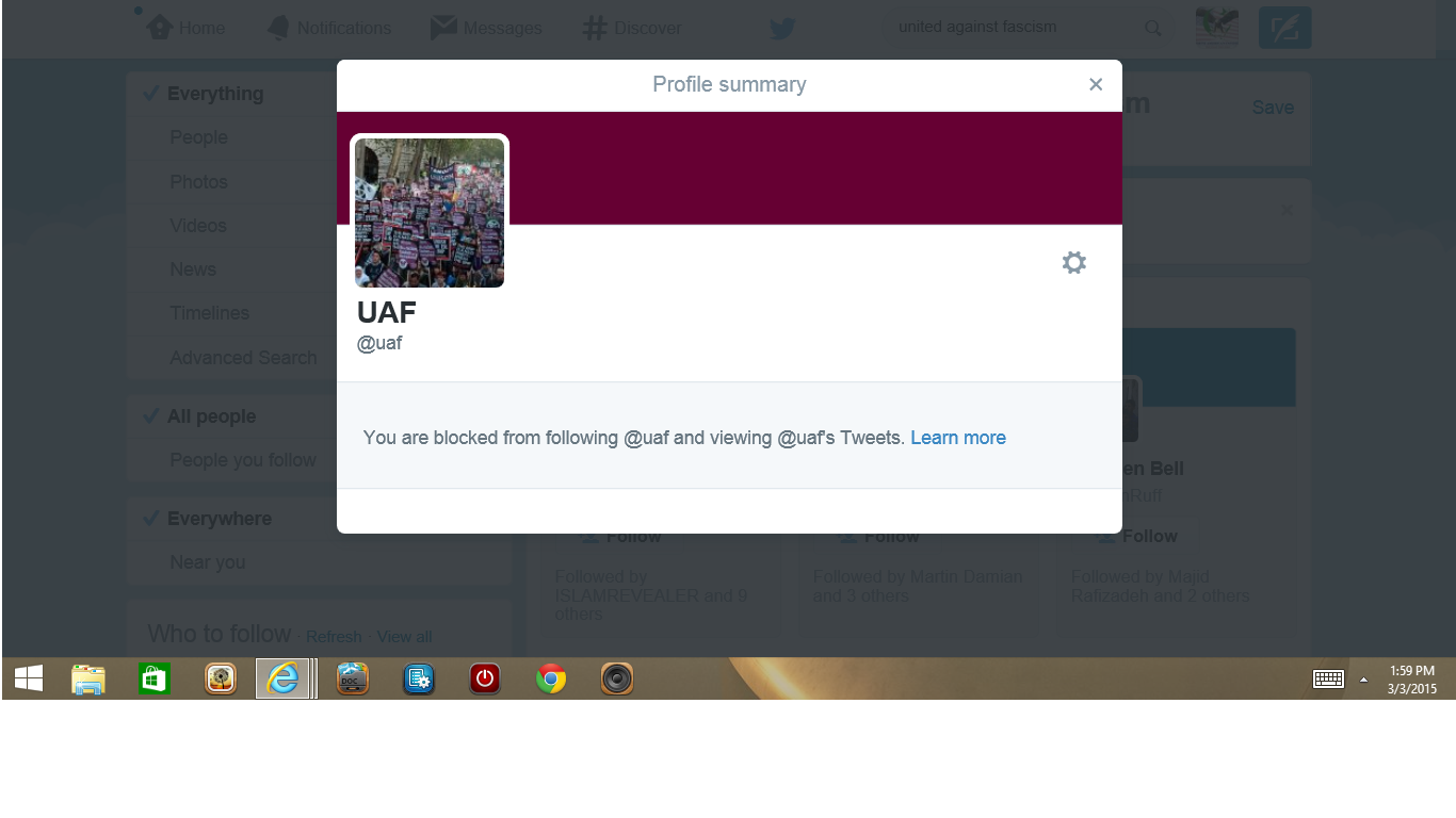 Blocked by UAF