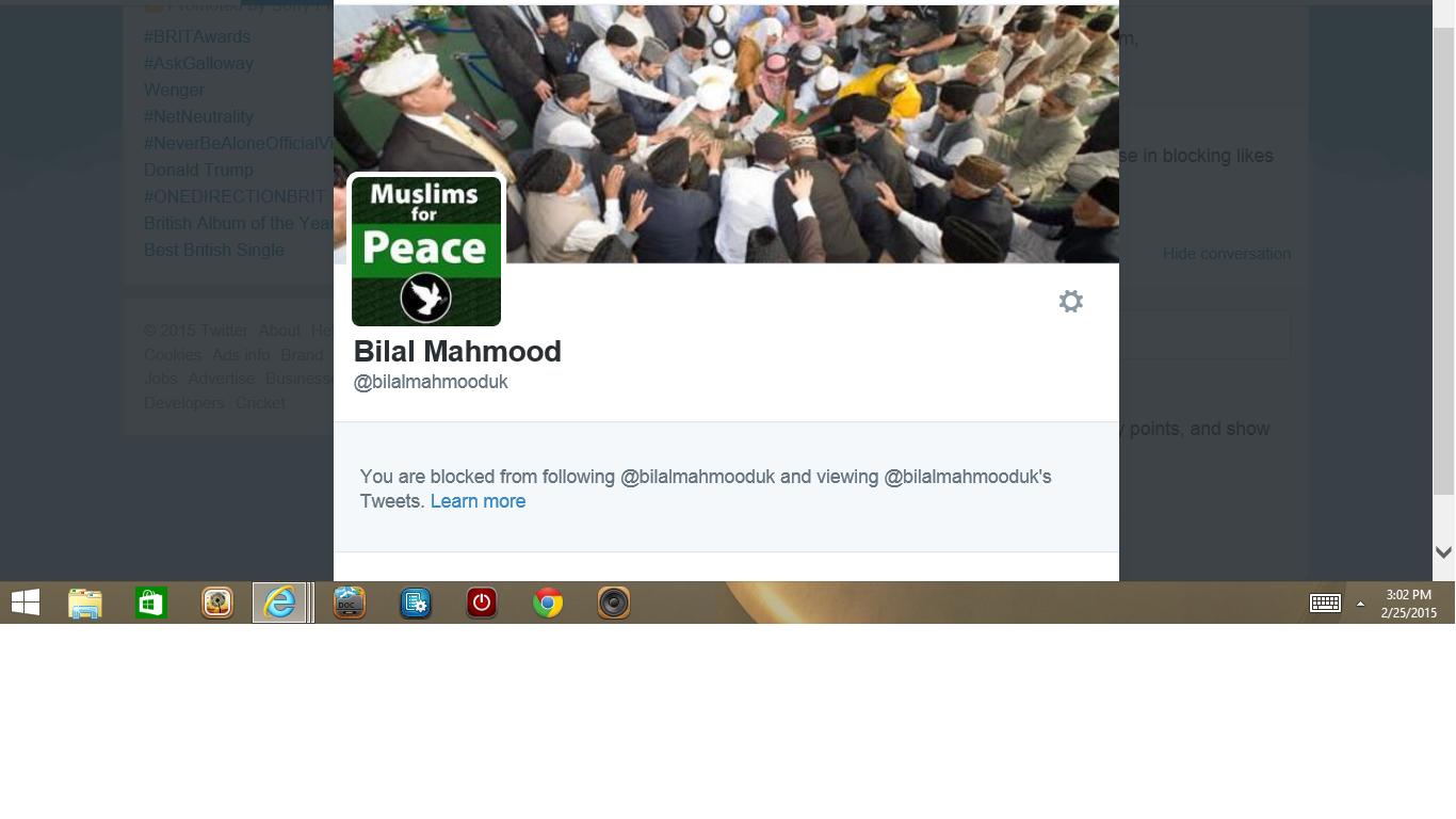 Blocked my Bilal