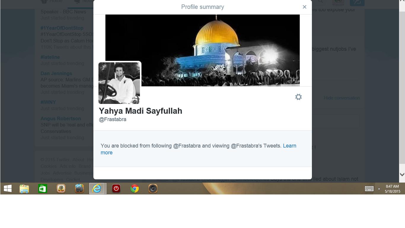 blocked by 3 yaha madi