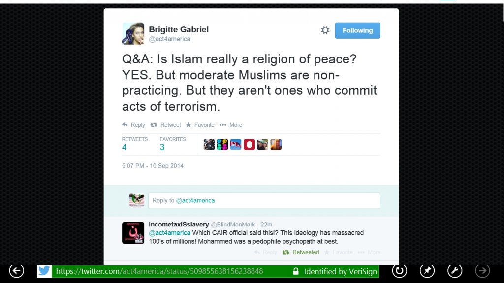 ACT Islam is a religion of peace