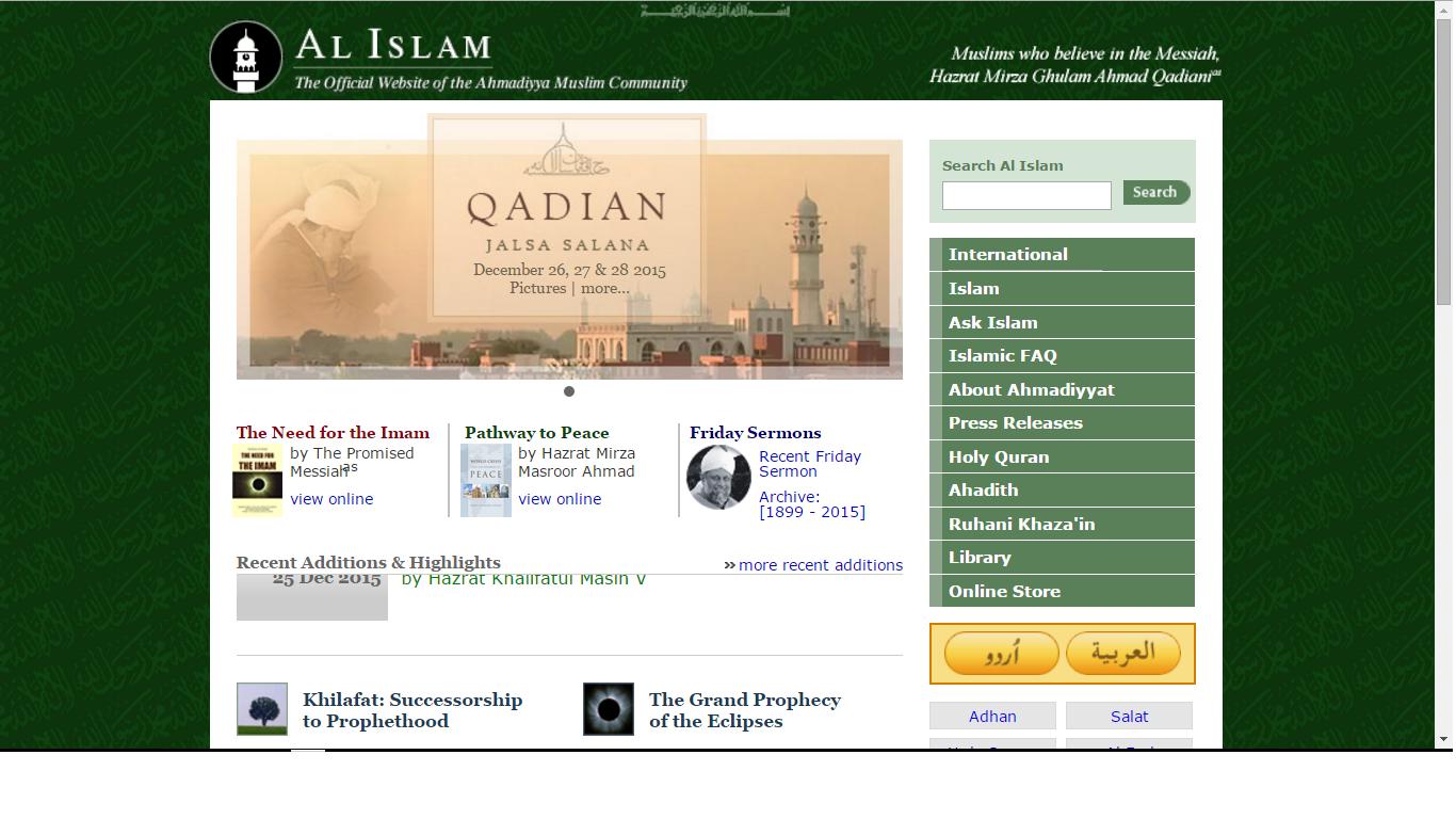 Ahmadi official site