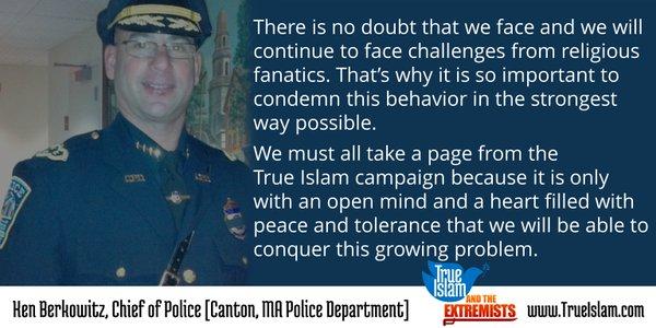 Police Cheif of Canton MA endorses True Islam