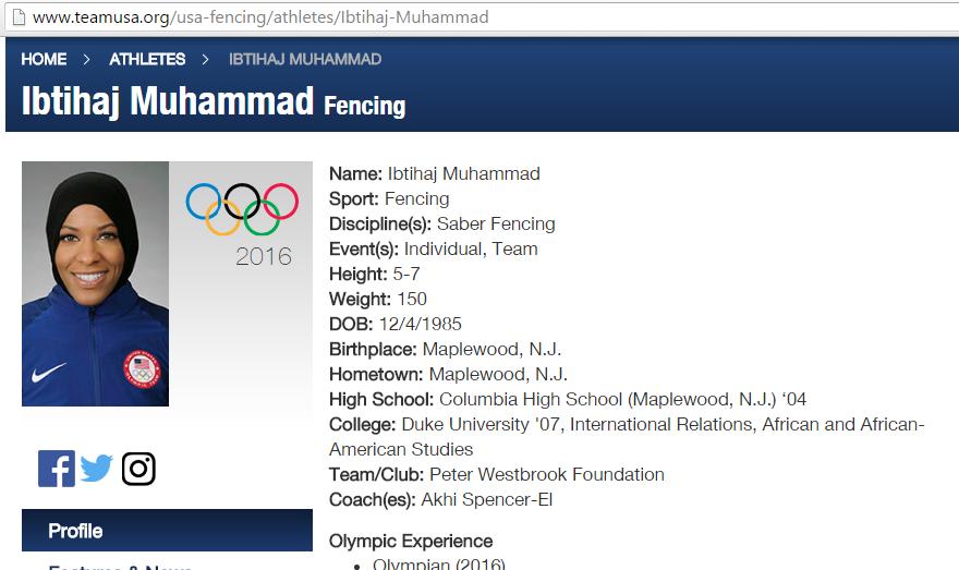 Olympian profile 1
