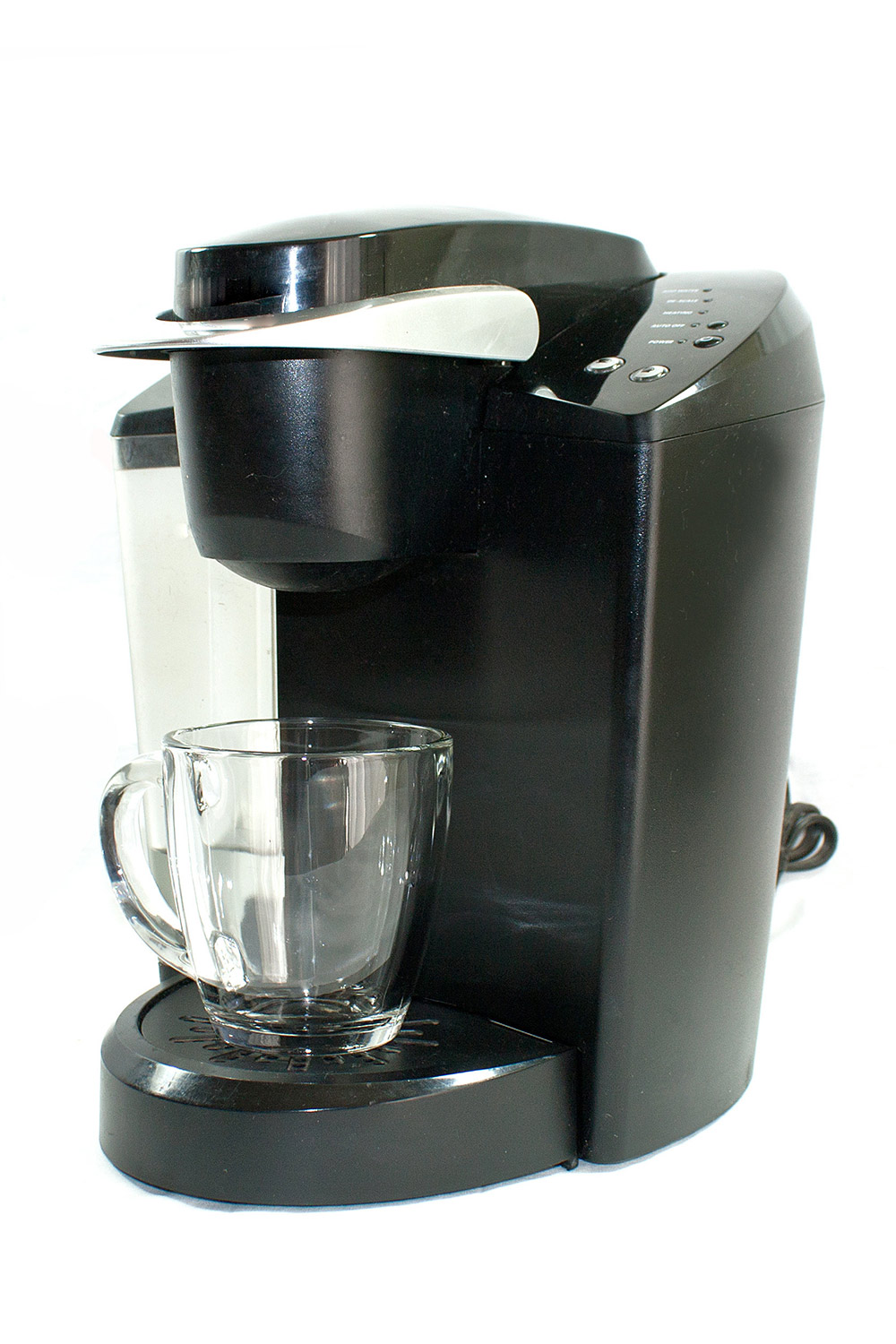 To clean the coffeemaker, run full-strength white vinegar through a normal brew cycle, run again, stop halfway through and let sit 15 minutes, then run several cycles with plain water.