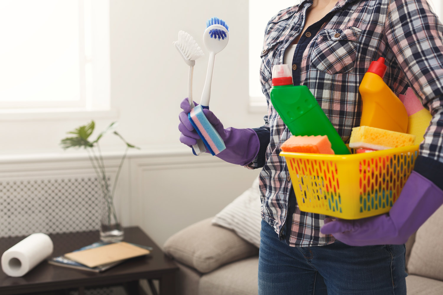 After flooding cleaning products