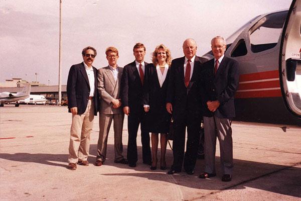 Deborah traveling via private jet with NFL officials