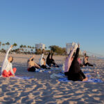 View of yoga class