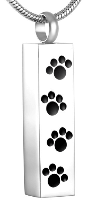 Cylinder with four Paw Prints