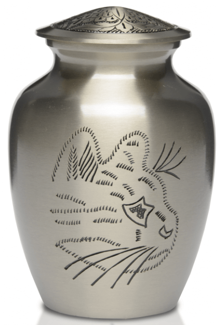 Hand Engraved Kitty Solid Pewter