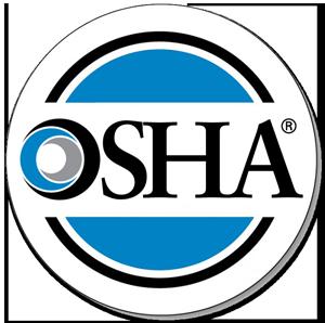OSHA seal. Nuway complies with all OSHA rules
