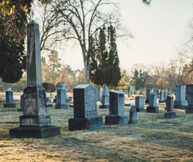 a cemetery where funerals are held