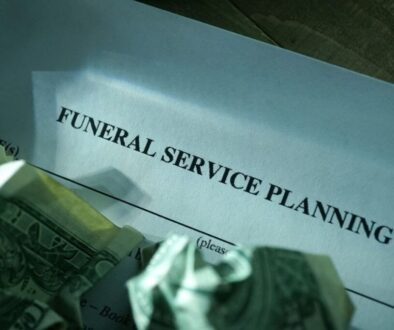 A photo of a service offer for funeral planning.