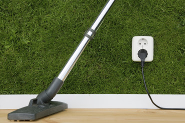 An outlet in a home that received a residential cleaning in Brooklyn, NY