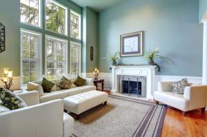 Luxury house interior. ELegant living room