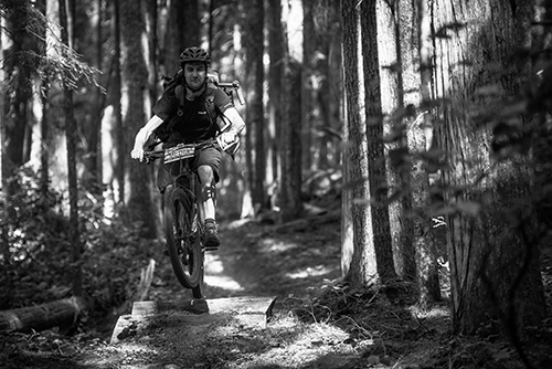 Rider in the wood