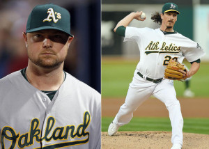 Pitchers like Jon Lester (Cubs) and Jeff Samardzija (White Sox) are two large acquisitions that now allows both Chicago baseball teams to be contenders.