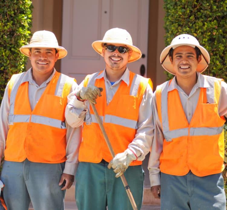 Harvest Landscaping team smiling