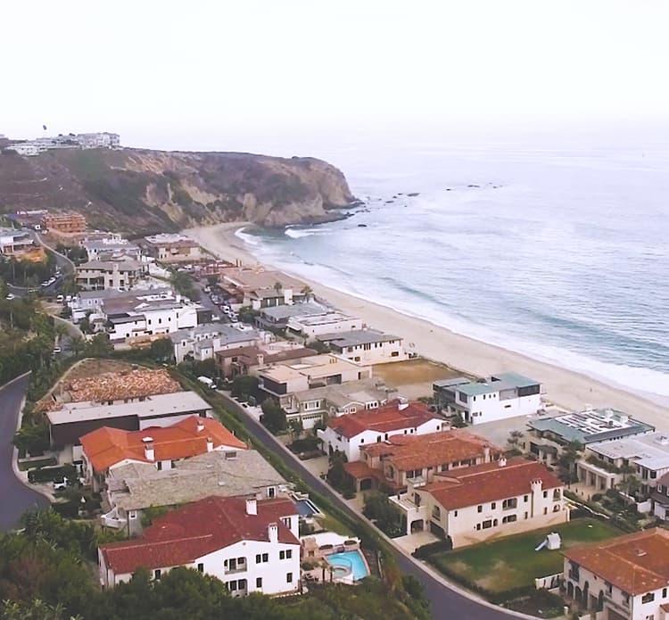Overhead view of Southern California coastline