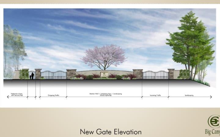New gate elevation